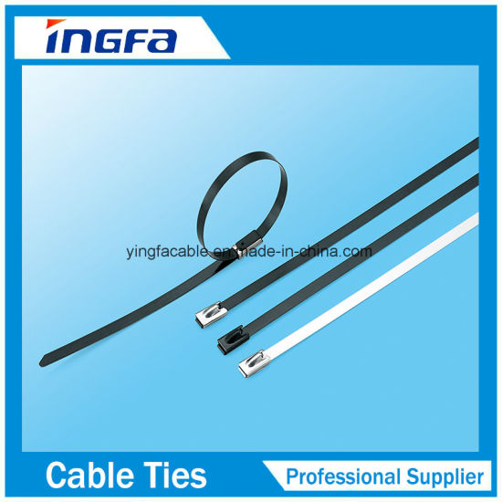 Factory Direct PVC Coated Ball Locked Stainless Steel Cable Tie pictures & photos