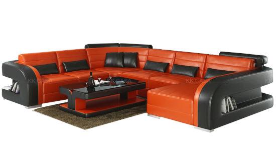 Leather Sofa Corner Couch Set