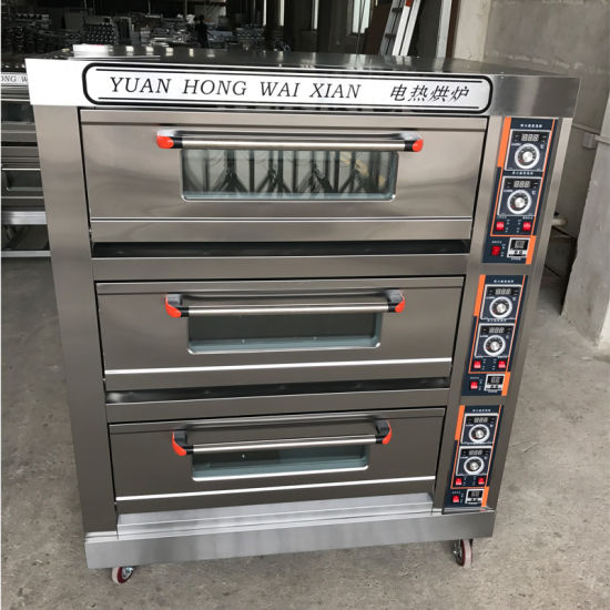 Wholesale Baking Machine Equipment Deck Pizza Oven for Bakery with 3decks 9trays pictures & photos