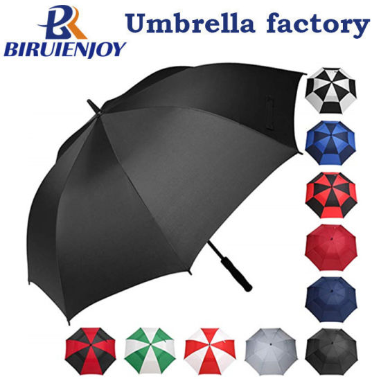 """54""""/62"""" Inch Large Oversize Double Canopy Vented Windproof Waterproof Automatic Golf Umbrella for Men and Women"""