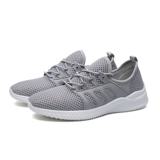 Men Strech Flyknit Fabric Hole Breathable Sneakers Sport Shoes Skateboarding Shoes