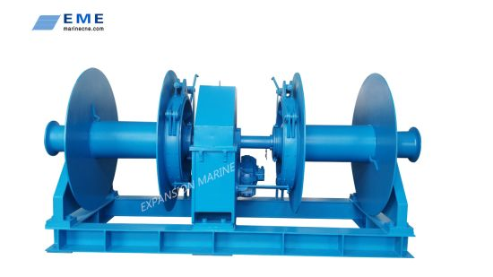 Marine Single Drum or Double Drums Hydraulic Winch
