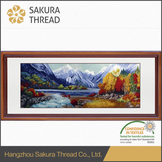 Hot Item Magnificent Rivers And Mountains Embroidery Wall Painting