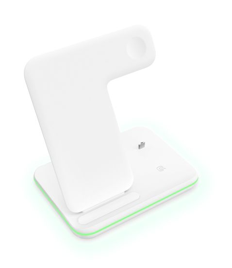 15W 3 in 1 Fast Wireless Charger for iPhone/I Watch/Airpods Ce FCC RoHS