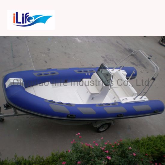 Ilife (CE) 17.7FT 5.4m 10 Persons Wholesale PVC or Hypalon Material High Speed Fiberglass China Hard Hull Boat / Yacht for Sale