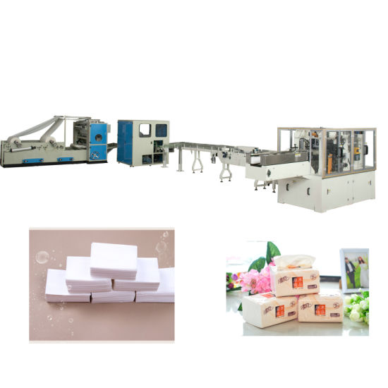 Full Automatic Nylon Bag Facial Tissue Paper Making Machine Production Line