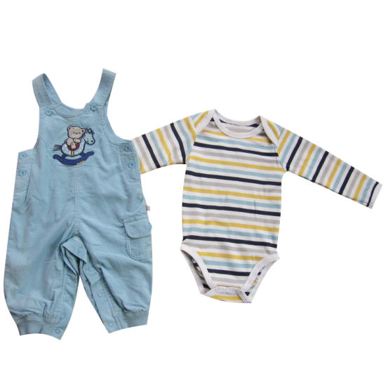 Baby Clothes Boy Bib Pants and Body Set