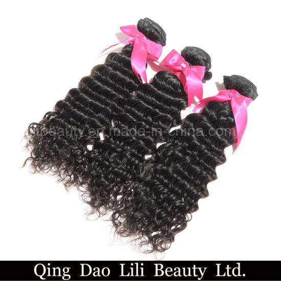 Unprocessed Soft and Smooth Body Loose Deep Mink Brazilian Hair pictures & photos