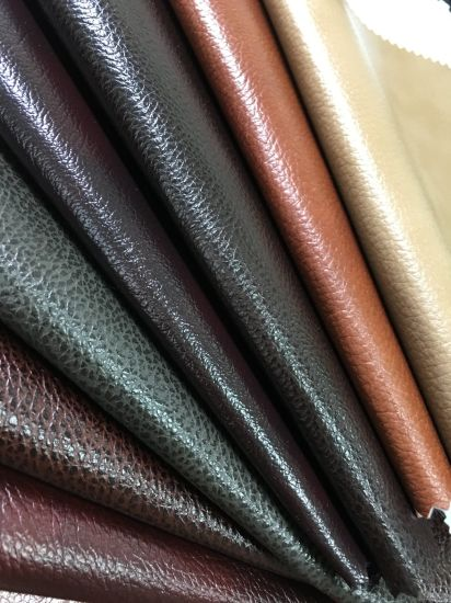 Popular Vinyl/PVC / Synthetic Faux Leather for Sofa /Furniture-Mark pictures & photos
