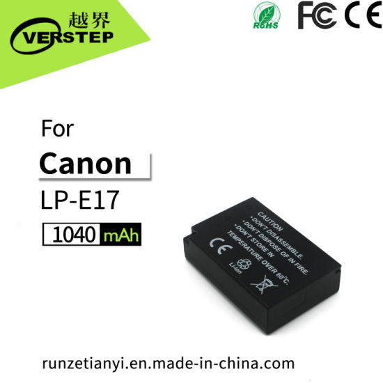 China New Decoding Digital Camera Battery for Canon Lp-E17 Support ...
