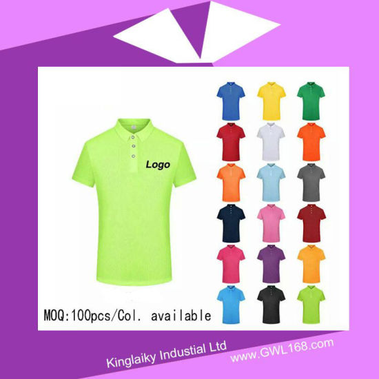 Customized Polo T-Shirt for Promotional Gift