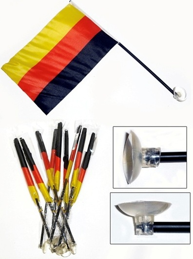 Economy Promotioal Germany Flag with Suction Cup for Car Mirror pictures & photos