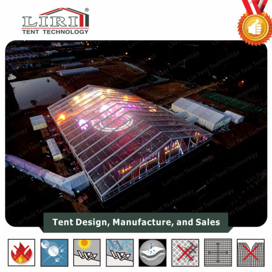 China 5000 People Big Clear Tent with Stage for Concert and Events