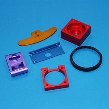 CNC Machining Aluminum Parts with Red Color Anodizing pictures & photos