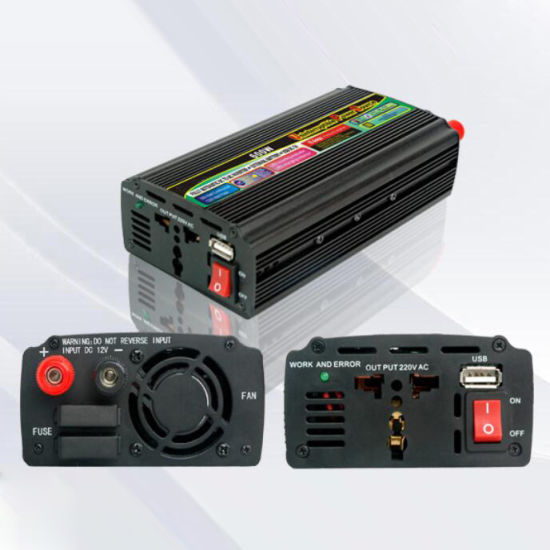 600W DC12V/24V AC220V/110 Modified Sine Wave Power Inverter with UPS Charger pictures & photos