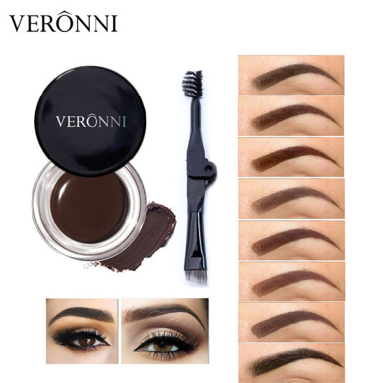 5cf44d93d17 VERONNI Professional Eyebrow Gel 8 Color High Eyebrow Tint Makeup Long  Lasting Waterproof Eyebrow Cream with