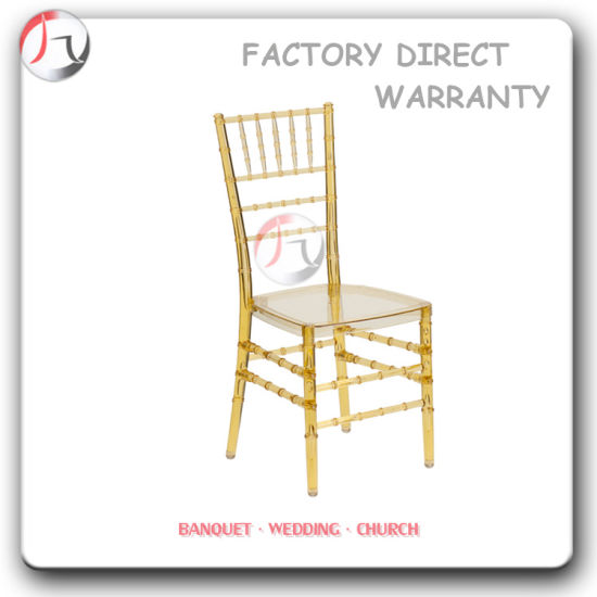 Modern Clear Plastic Stackable Resin Chiavari Chair (RT 01 1)