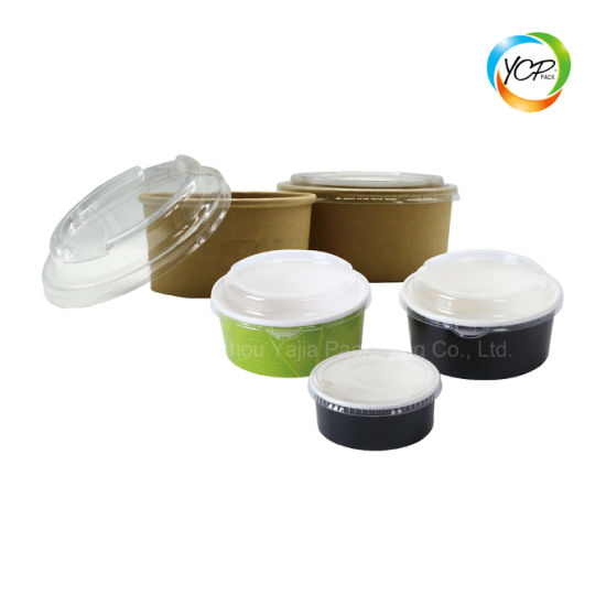 Waterproof Disposable Paper Noodle Sushi Fruit Lunch Salad Bowl