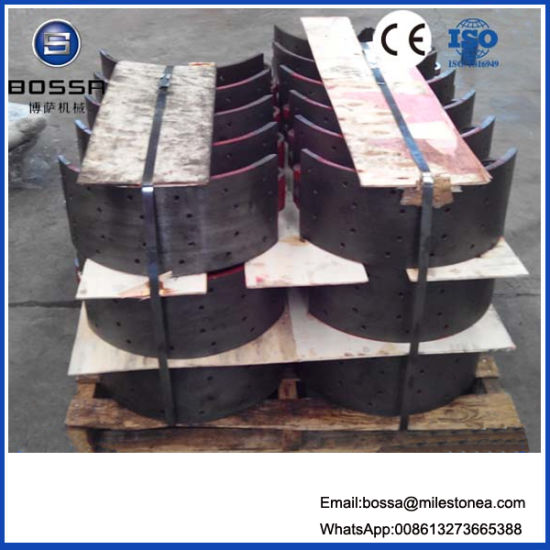 Nissan Oil Brake Shoe 220 mm 30 Holes Q235 Material Iron Casting Type for Japan Truck Trailer pictures & photos