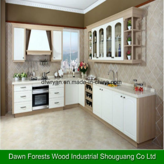 china pvc membrance whole house custom made integral custom made rh dfwryan en made in china com Harwood Cabinets economy white kitchen cabinets
