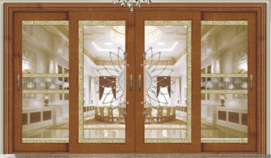 Double Glass Designed Sliding Door With Fly Screen