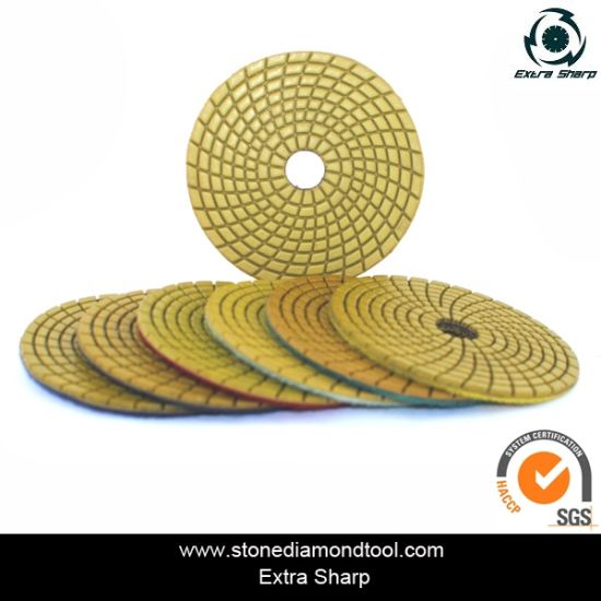 100mm Resin Wet Used Polishing Pads for Granite/Marble/Stone/Concrete