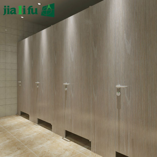 China Jialifu Wood Grain Phenolic Resin Toilet Partition