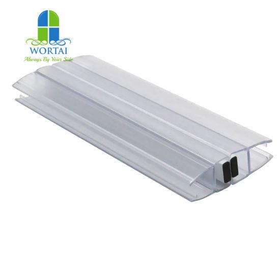 High Quality Shower Room Door PVC 180 Degree Door Seal Weather Strip