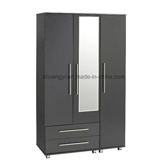 China 3 Door Wardrobe Closet Design With Mirror China Wooden