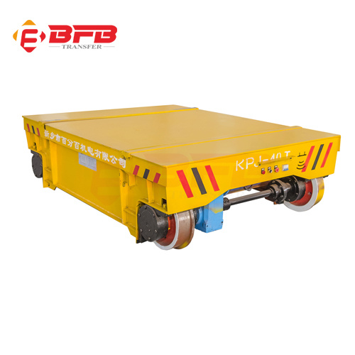 Low Voltage Steel Plate Electric Railway Transport Trailer pictures & photos