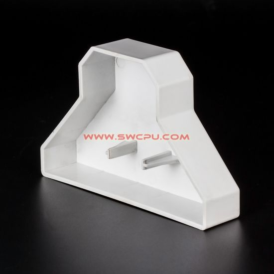 Injection Molded White ABS Plastic Housing Plug / Nylon Plastic Cover pictures & photos