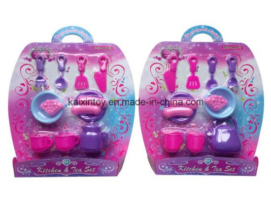 Pretend Play Plastic of Kitchen&Tea Toys for Kids