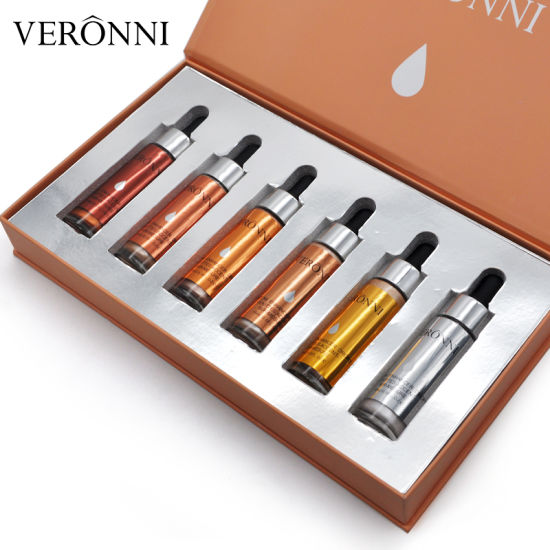 VERONNI 6 Colors Shimmer Liquid Highlighter Set (6PCS/set) Cosmetics Set pictures & photos