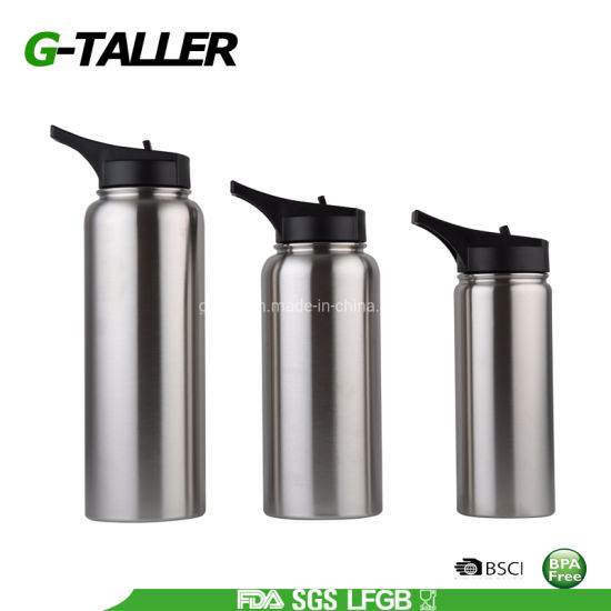 Metal Stainless Steel Water Bottle with Rubber Coating