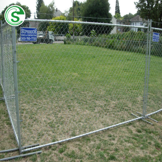 China Factory Temporary PVC Coated Chain Link Fence
