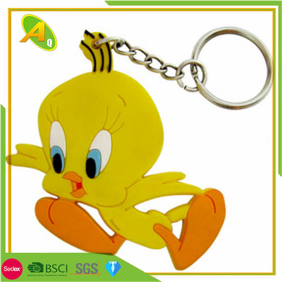Custom Cute Yellow Dark Soft PVC Key Ring (259) pictures & photos