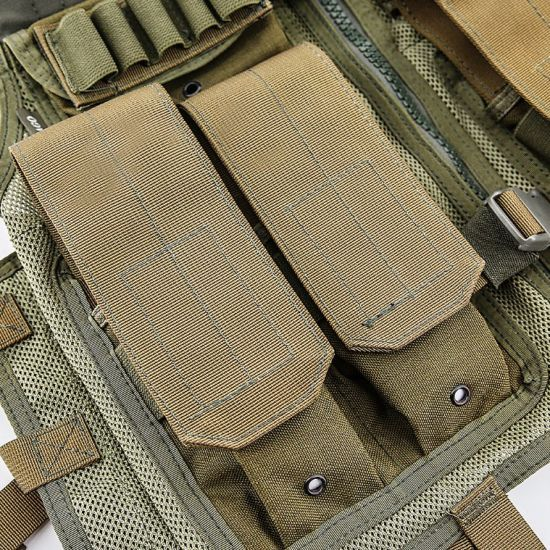 Army Safety Customized Khaki Molle Pouches Comabt Military Tactical Vest