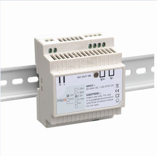 12V DC DIN Rail Power Supply DIN Rail Adapter Door Bell Transformer 1.25A 2.5A 5A 8.3A 15W 30W 60W 100W DIN pictures & photos