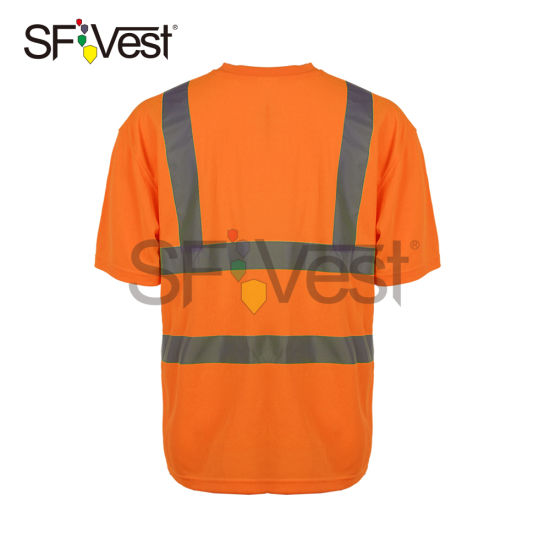 3m Reflective Tape High Visibility Safety Polo Shirts Security Clothing with En ISO