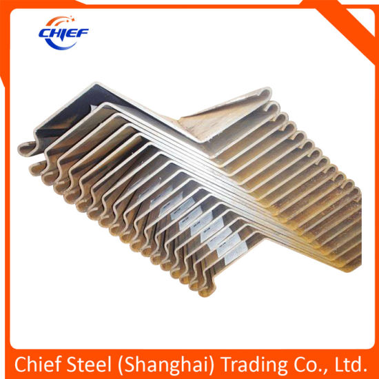 Hot Rolled Sheet Pile for Cofferdam Steel Sheet Pile En10219 S275jr / S275j0 / S275j2 / S355jr / S355j0/ S355j2h Z Sheet Pile / Piling Sheet for Ocean Project