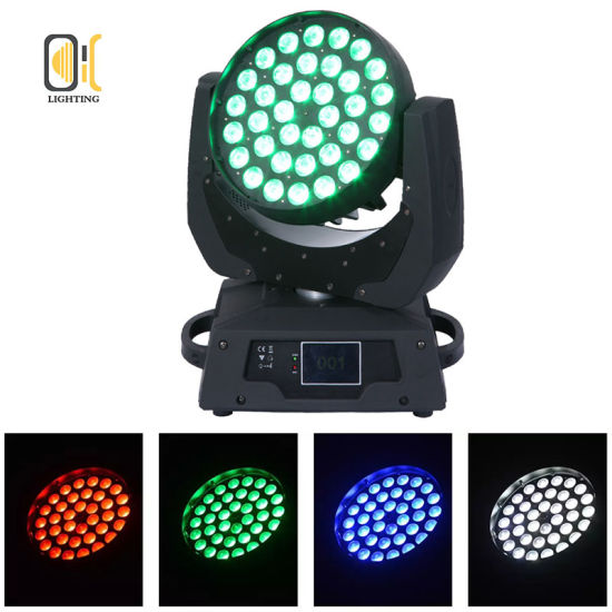 Wash Zoom Lighting 36X10W RGBW 4in1 LED Moving Head Light