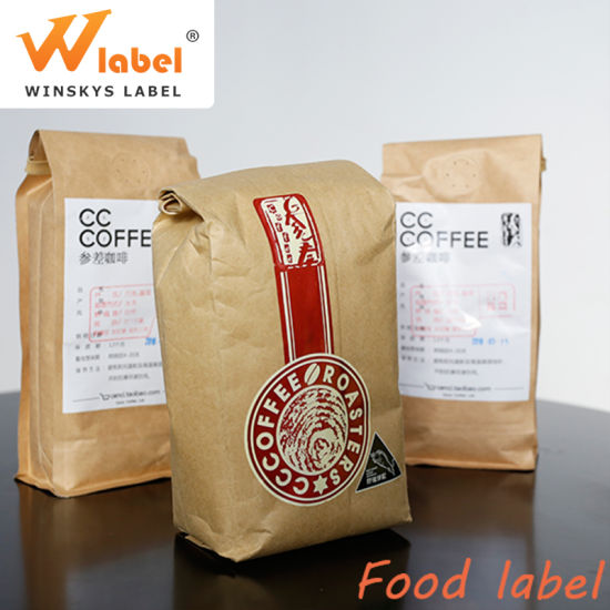 Guangdong Factory Wholesale Easy to Peel off High Quality Label for Coffee Bags