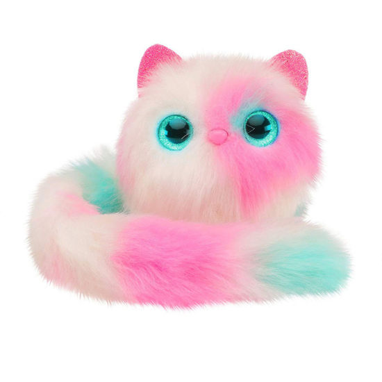 Pink Electric Fluffy Cat Plush Stuffed Toy for Children Plush Toy Doll
