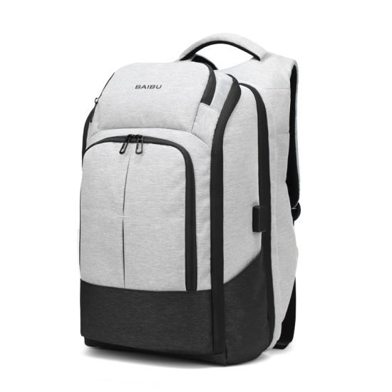 Big Capacity Double Shoulder Business Travel Leisure Computer Notebook Laptop  Pack Backpack Bag with USB ( ba868a1f17b9c