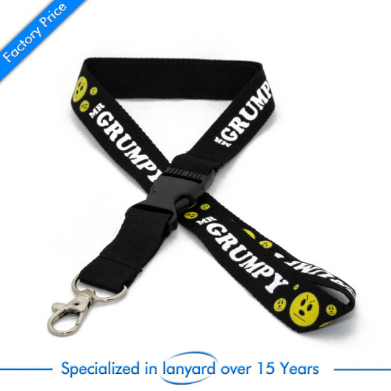 Custom Cheap Printed Woven College Dye Cool Key Neck Strap World Cup Blue Army Event Flat Polyester Logo Lanyard with Tag Card Holder No Minimum Order pictures & photos