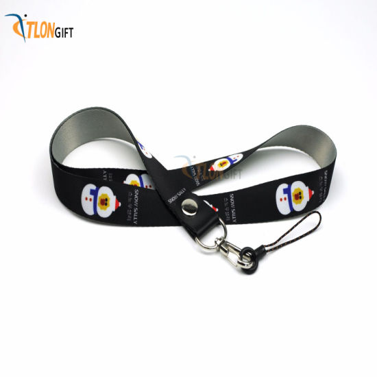 Polyester Printing Fashion Promotion Neck Strap, Safety Custom Design Lanyard with Logo