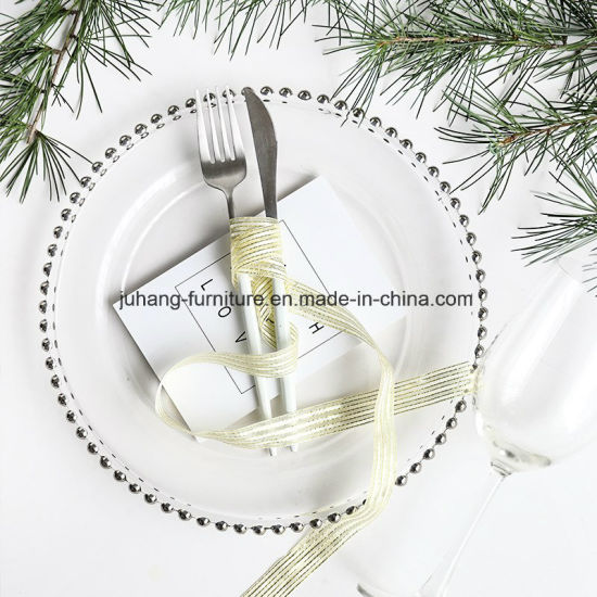 Wedding Events Glass Charger Plates for Food pictures & photos