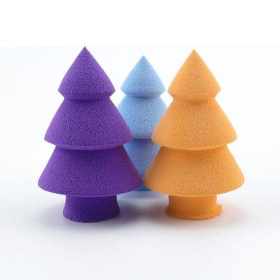 New Arrival Unique Christmas Tree Makeup Sponges Puff Private Label