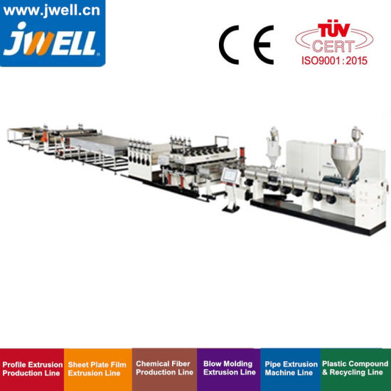 Jwell - PC|PP|PE Plastic Hollow Cross Section Plate|Board|Sheet|Grid Recycling Agricultural Making Extruder Machine