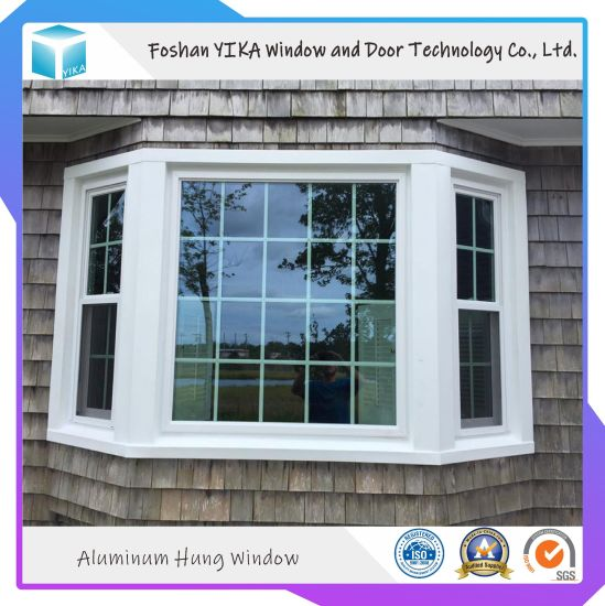 Australian Style Thermal Break Aluminum Double Hung Window with Grill Design